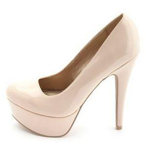Charlotte Russe Beverly nude platform heels sz 9